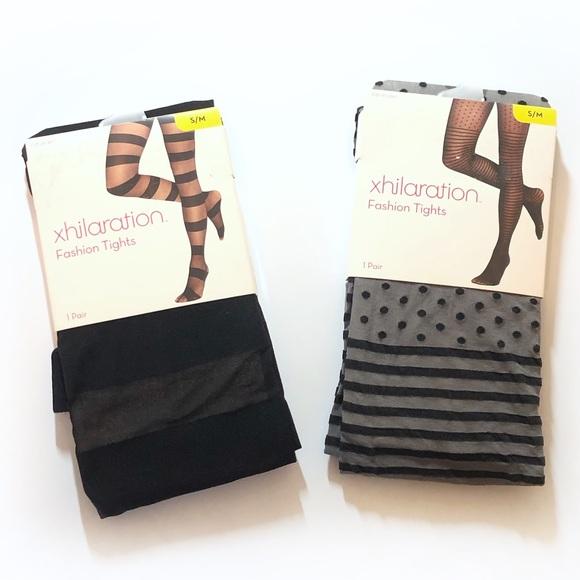 4aa0a58200511 Xhilaration Accessories   2 Pairs New Fashion Tights Size Sm   Poshmark